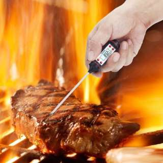Digital Food Thermometer BBQ Grill (Pack of 2) WT-1BK-2
