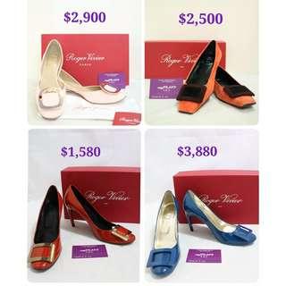 全新 二手 Roger Vivier 平底鞋 高踭鞋 Shoes High heel Classic 方扣