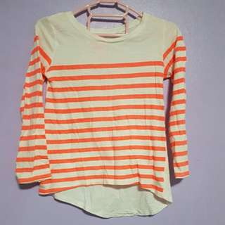Cotton On Kids striped longsleeved shirt