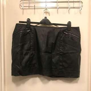 Dorothy Perkins Faux Leather Mini Skirt
