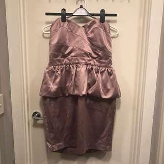 Dorothy Perkins Pink Tube Peplum Dress