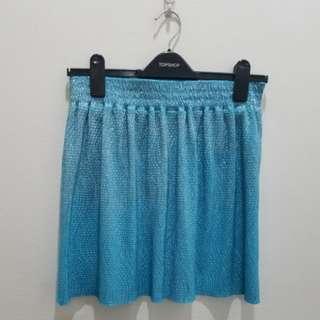 Forever 21 Sky Blue Sparkly Skirt - Size M