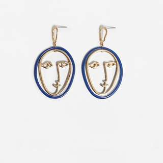 Face Earings / Abstract Earings / Anting Wajah