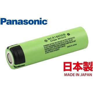 日本樂聲 Panasonic 18650 3400mAh 3.7V Battery 鋰電池 充電池 ( Made in Japan ) - 原裝正貨
