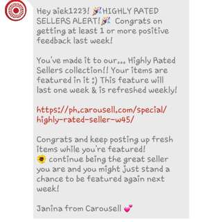 Highly rated sellers!