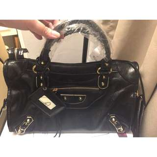 Tas Balenciaga Metalic Edge City Black [REAL PICT!]