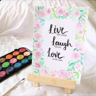 Live Laugh Love Inspirational Card