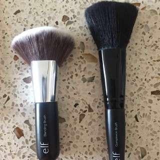 2 elf brushes, contour brushes