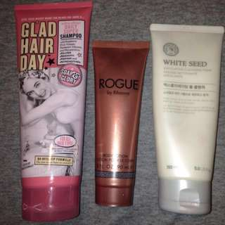 Soap and glory, faceshop and Rhianna bundle