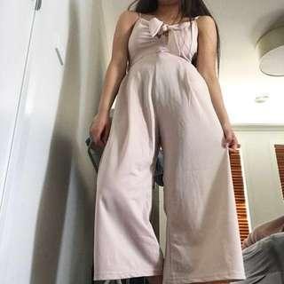 Formal Nude Pastel Pink Beige Jumpsuit / Playsuit ☁️
