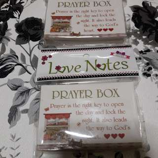 """Prayer box """"365 days food for the soul"""""""