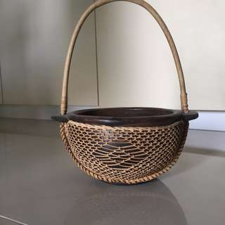 Creative Rattan basket holder