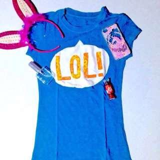 Blue-Lol t-shirt