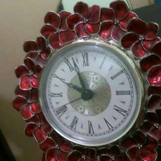 Table Antique Clock Metal