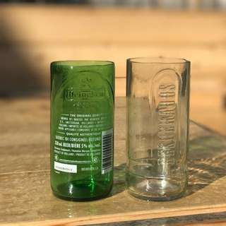 Beer bottle drinking glass