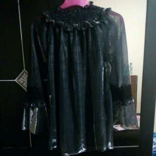 Outer/blus Glitter Black