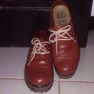 Brown shoes sepatu coklat vintage doctmart