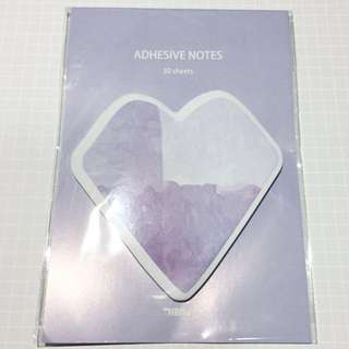 Purple Heart Diamond Sticky Memo