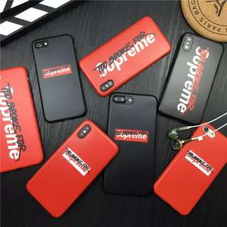 [PO] Too Broke For Supreme IPhone 6/7/8/X  Full Cover Case