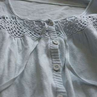 Baby blue laced cardigan