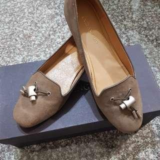 🚚 Enzo Angiolini 麂皮 平底 福樂鞋