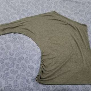 Oxygen Grey One Sided Top - Size L