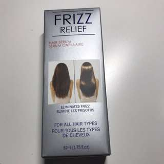 Frizz relief hair serum