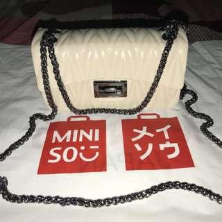 Jelly mini bag cream miniso (open jastip)