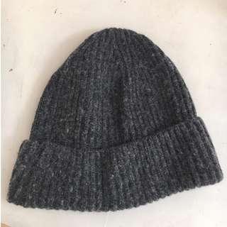 Grey wool beanie/toque