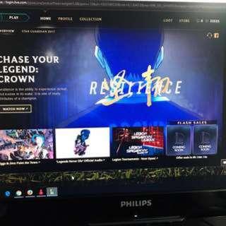 $25 31k+ IP Unranked LoL League of Legends Garena Account SG/MY