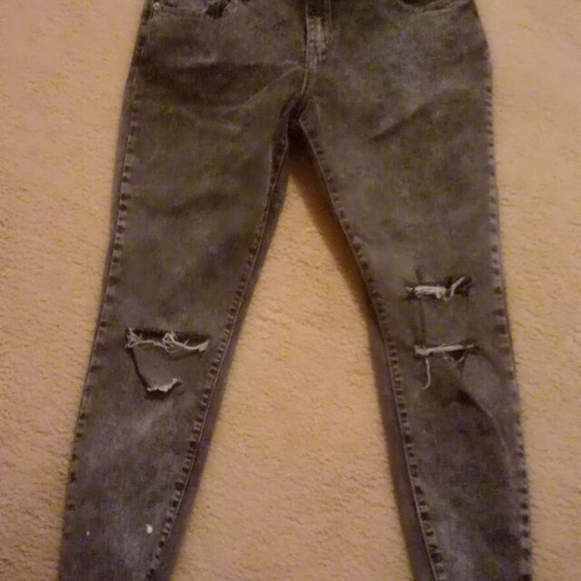 7/8 Ripped skinny jeans size 14