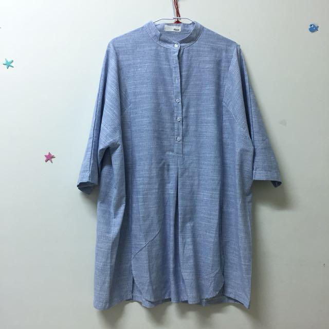 💙全新💙中山領條紋洋裝