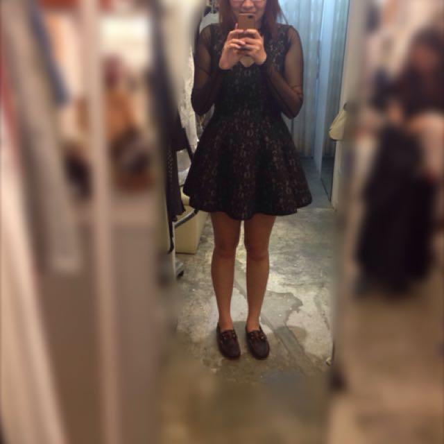 日本店購入-黑色蕾絲洋裝