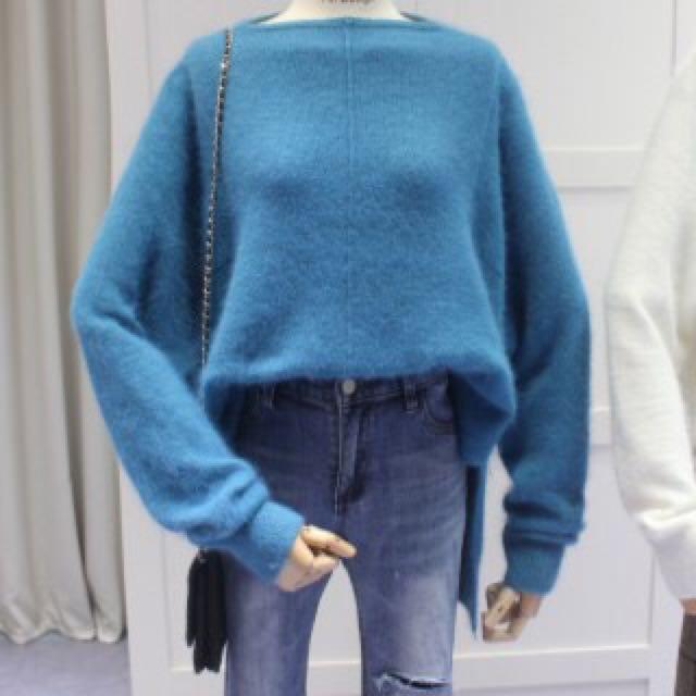 (代購)兔毛針織長袖上衣 毛衣