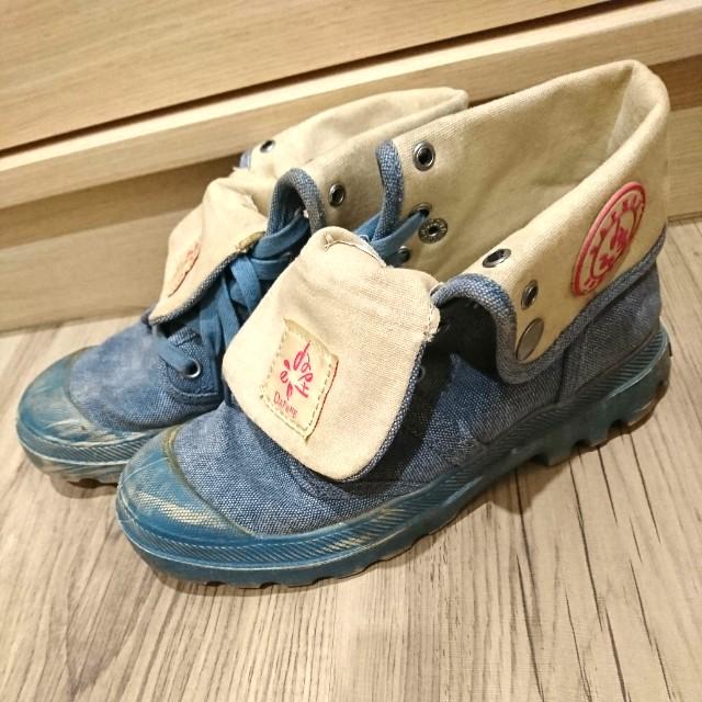轉角♥二手 達芙妮牛仔仿舊復古踝靴 長筒帆布鞋