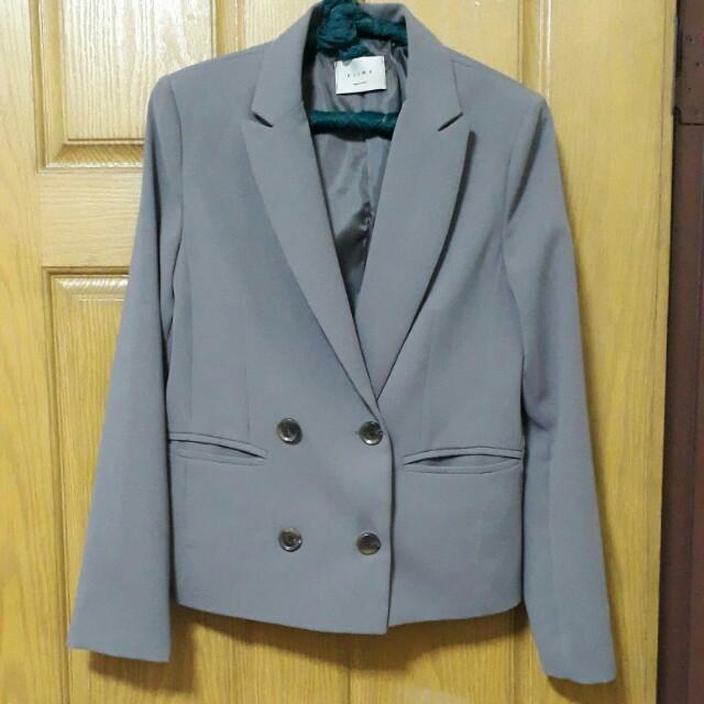 韓製 短版 西裝外套