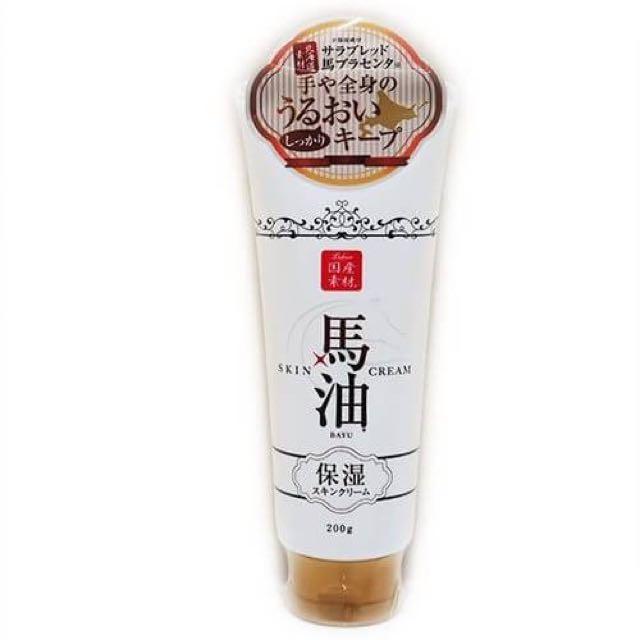 *現貨* 日本製 馬油全身乳霜 容量:200g 建議售價$230 適用各種膚質 冬天乾燥肌必備 手部及全身肌膚都可使用 淡淡櫻花香
