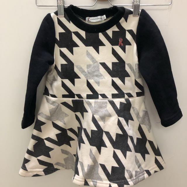 百貨專櫃 千鳥紋 長版上衣 洋裝 2號 約90碼