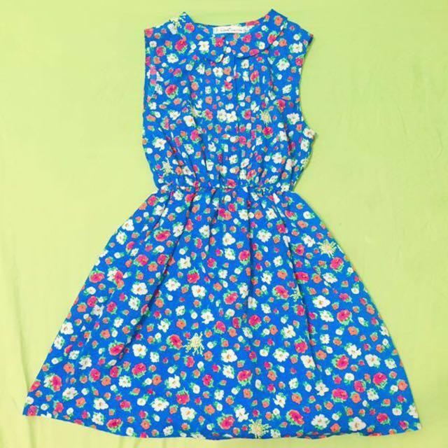 鳥樹 洋裝 古著 碎花 連身裙 #幫你省運費
