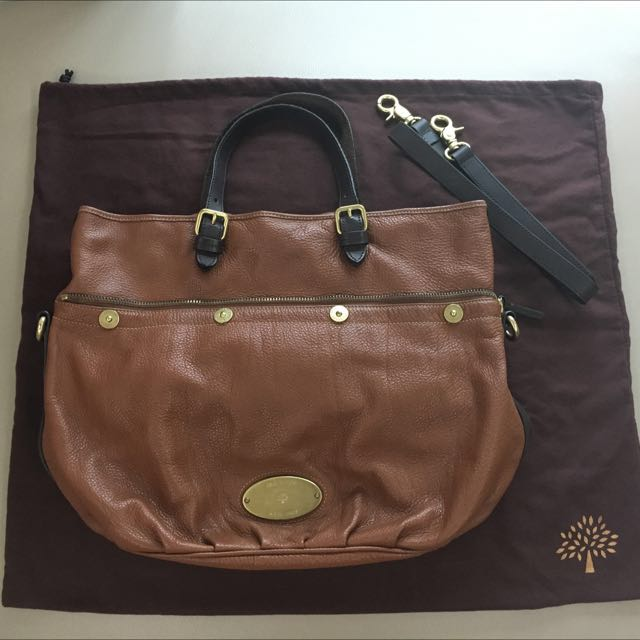 ♻️ MULBERRY 經典棕色手提袋/側背包(宅配免運)