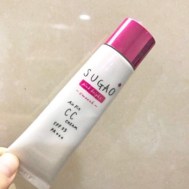 日本美妝 SUGAO Air Fit CC霜 SPF23 粉紅款 明亮色