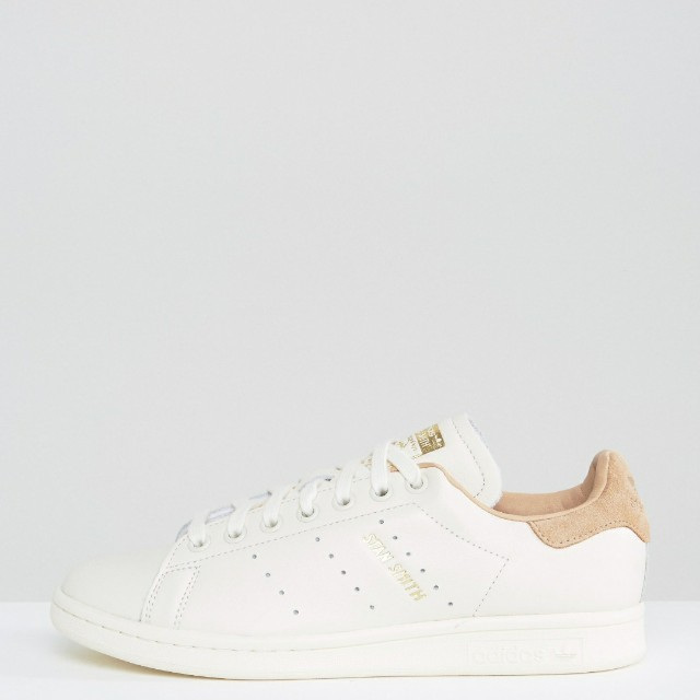 83f07a26ea9b9 adidas Originals Off White Stan Smith Trainers With Tan Trim ...
