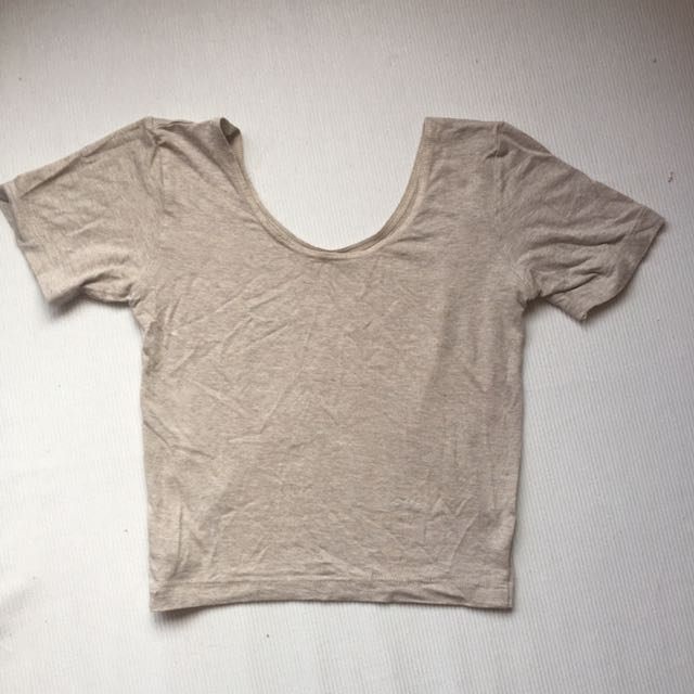 American apparel beige crop