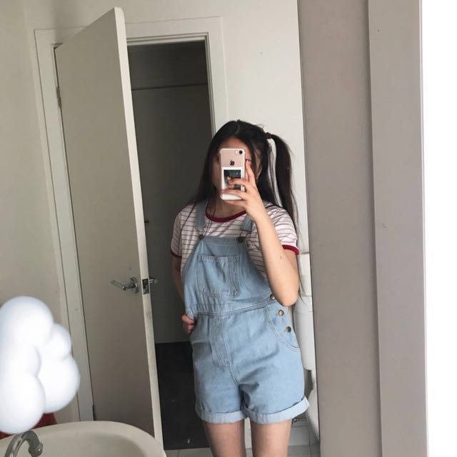 American Apparel Denim Overalls ☁️