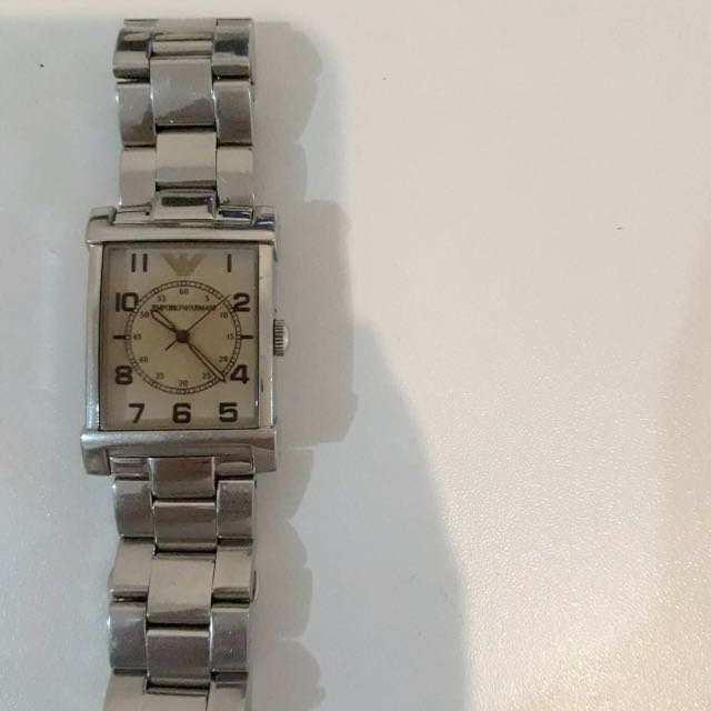 armani stainess wrist watch