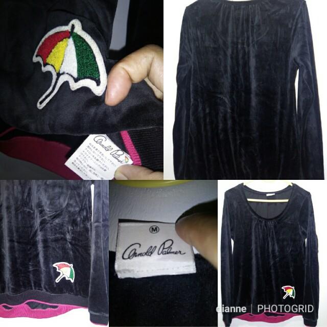 Arnold Palmer black velvet pullover