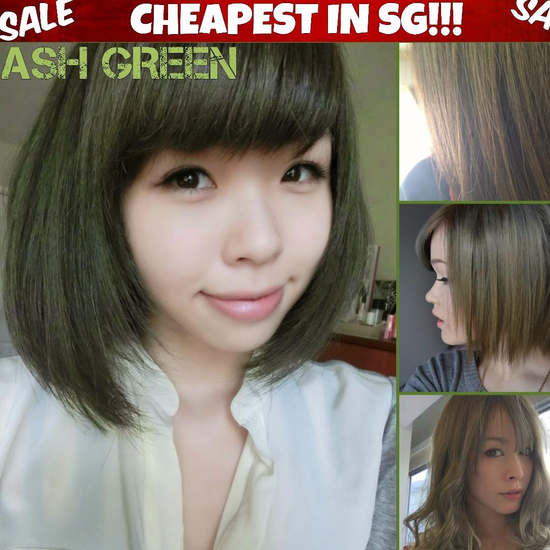 Ash Green Hair Dye Color Health Beauty Hair Care On Carousell
