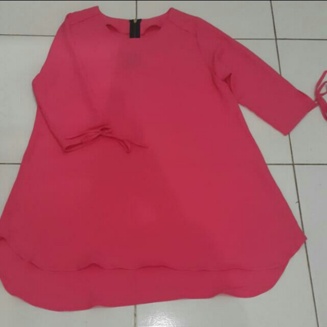 Asymmetric Blouse Pink