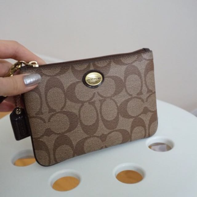 Authentic coach leather pouch