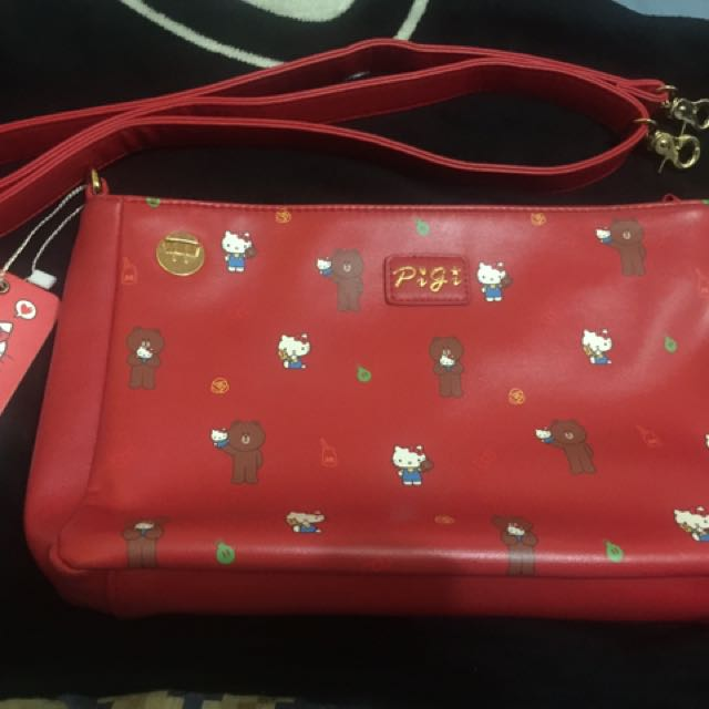 Authentic hello kitty x line friends bag